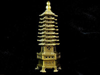 Wholesale China Superb Pure copper Sculpture Pagoda Statue