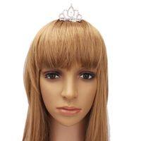 Wholesale Fashionable Pretty Rhinestone Crown Comb Hair Clip Tiara S01558