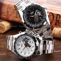 brand name watches - New for Automatic Wrist Watch Date Mechanical White Stainless Steel Case Men Watches TM340 Winner Brand Name