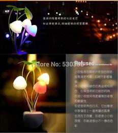 Wholesale New Avatar Round Head Plug Electric Induction Dream Mushroom Fungus Lamp LED Table Lamp Mushroom Lamp Energy Saving Light