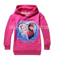 Wholesale Hot Queen Elsa Anna Girls Hoodies Tops Shirts Y Toddler Pullover Clothes