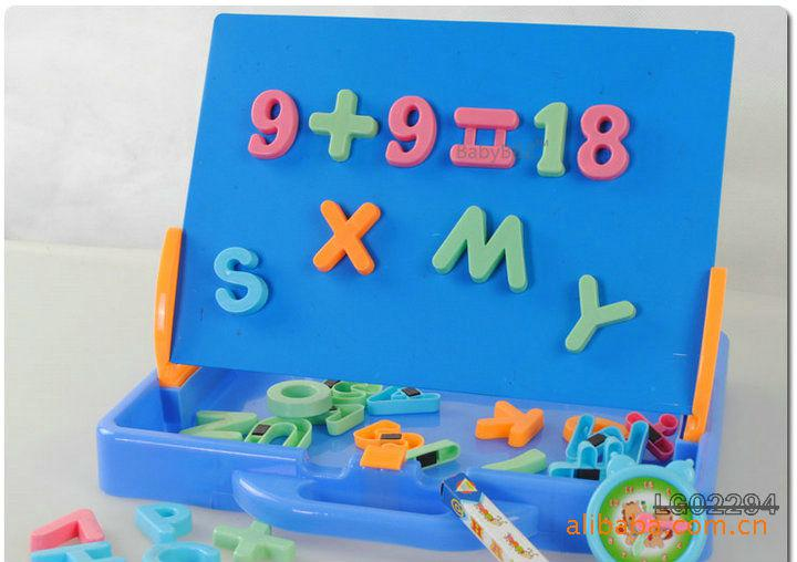 large magnetic board arithmetic digital letter board plastic toy early learningeducation toys baby good gift plastic magnetic letters on sale