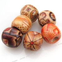 Wholesale 600x New Assorted Charms Wooden Bead Fit Bracelet