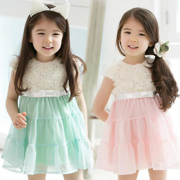 Wholesale- Girls Summer New Arrival Korean Dress Children Clothes ...