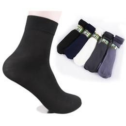 Wholesale Pairs pack Summer Fashion Cool Black Comfortable Mens Short Bamboo Fiber Socks Stockings Middle Socks