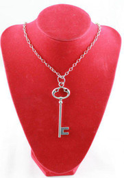 3 Pcs Tibetan Silver Skeleton Key Pendant Necklaces #20007