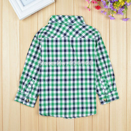 Wholesale-New 2015 cotton children blouse long sleeve boys shirt black white green plaid blouses for girls children's wear formal boy
