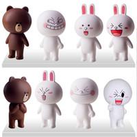 Vente en gros-livraison Gratuite 8 cfp/set Japonais de jouets en ligne mignon ours brun cony lapin poupée en vinyle pour les enfants Cadeaux/cadeaux de Noël/ commerce de gros