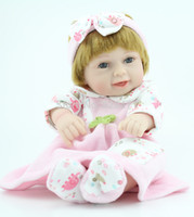 Cheap Wholesale-Fashion Baby Dolls 11 inches Mini Handmade Full Vinyl Realistic Reborn Baby Girl Doll Toy