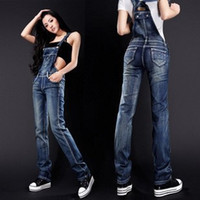 bib jeans - NEW Fashion bib jeans overalls trendy plus size clothing Coveralls women denim overalls Factory Direct size