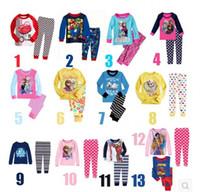 Cheap Wholesale-EMS DHL Free Shipping Toddler Girls Boys 2pc cute Suit Frozen Princess Casual Suit Frozen Pajamas Sleep wear