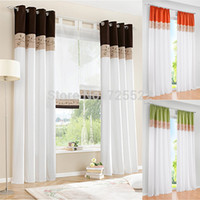 bamboo curtain - High Quality Modern Bamboo Fabric Embroidered Patchwork Curtain Stitching Colors Curtain for living room piece