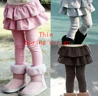 baby cakes trousers - fashion candy color spring thin children girls legging with cake skirts leggings kids long trousers baby pants LG002