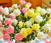Wholesale bunches Fresh rose Artificial Flowers Real Touch rose Flowers Home decorations for Wedding Party or Birthday