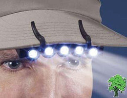 5 LED Cap Light White Light LED Flashlight headlamp for Camping Fishing Running
