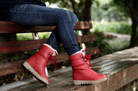 Wholesale winter boots flat heel medium leg boots snow boots for women s short boots womens motorcycle boots shoes