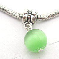 Wholesale Light green Opal stone pendants Charms Pendants jewerly Fit European FREE DHL150603