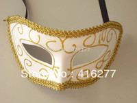 paper mache - Paper Mache Venetian Masquerade Women Men Exquisite Lace Mask Mardi Gras Ball