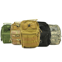 Wholesale Guaranteed D Molle Tactical Utility Ways Shoulder Sling Pouch Backpack Chest Bag Shoulder Bags Nylon Black Green ACU