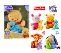 fisher price toys - Baby Bed Music Toy Fisher My First Gifting Soft Kawaii Plush Winnie Tigger Piglet Eeyore Stroller Development Rattle Price