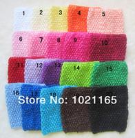 Cheap Wholesale-10pcs lot New Arrival 20cm X 23cm Baby Girl 9Inch Crochet Tutu Tube Tops Chest Wrap Wide Crochet headbands Free Shipping