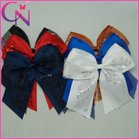 girls ponytail holders - Inch Big Cheer Bow girls ponytail holder cheerleading hair bow colors Factory outlet CNEHB