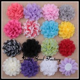 Wholesale Al por mayor malla del pelo del cordón Flores de tela de tul flores para los accesorios de la flor artificial elegante lamentable del bebé de la venda de gasa FL101