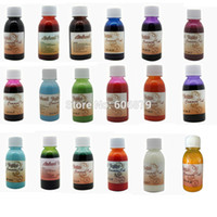 Wholesale Bottles Temporary Airbrush Tattoo Common ink ML bottle Colors to choose for glitter tattoo kits supplies