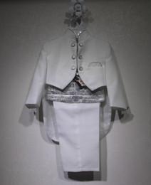 En gros de haute qualité garçons noirs vêtements épousez, costumes blanc Tuxedo, porteur de l'anneau costume pour 3-4 ans infantile, 4t costume garçons de fête de mariage 0775