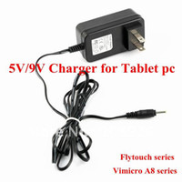 Wholesale V Tablet pc charger for flytouch superpad series and vimicro A8 series x0 mm