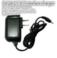 Wholesale V A DC EU US Charger Power Adapter for Tablet Q88 Flytouch Ainol Myth EOS Yuandao N70 N70HD N12 Cube U25GT U35GT2 U39GT