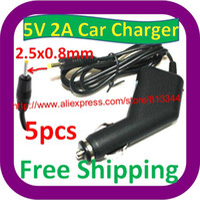 Wholesale V A DC x0 mm Car charger for Tablet PC Q88 Ainol Venus Flytouch Flytouch Yuandao N70 N70HD