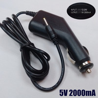 Wholesale V A DC x0 mm Car Charger Power Adapter for Tablet PC Q88 Ainol Venus Flytouch Flytouch Yuandao N70 N70HD Newsmy T7 P7