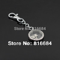 Wholesale Newest Fit Floating Charms For Glass Lockets Key Chain Silver With Crystal
