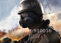 Cheap Wholesale-Free shipping ONE Piece Brand New NATO M9 style Military Gas Mask And One SEALED Filters Canisters