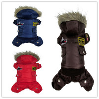 air force parka - NEW Winter Pet Products Dog Clothes Winter For Dogs Clothing Jumpsuit Warm Tracksuit For USA AIR FORCE Design Down Parkas