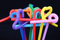 Wholesale Disposable Plastics Coke Straw Colored straws Art Modeling Tea Crazy straws