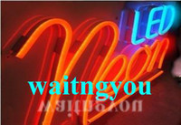 Wholesale DHL Freeshipping LED Neon sign light flex rope the PVC LED light for Night bar Disco AC220V V