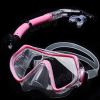 Wholesale Scuba Diving Snorkeling Silicone Mask Set Pink