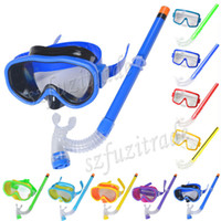Wholesale Promotion Kids Swimming Mask Pool Diving Equipment Anti Fog Goggles Scuba Mask Snorkel Glasses Set Children Gift AHA00143