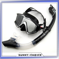 Wholesale Professional Side View Scuba diving mask silicone Full dry snorkel Ultra Seal ocean free Diving Mask