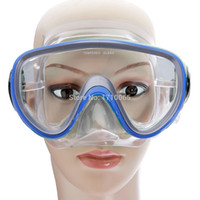 Wholesale New Swimming Scuba Anti Fog Goggles Mask PVC Dive Diving Glasses w Dry Snorkel Set FreeShipping