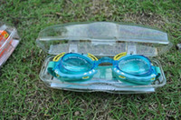 Wholesale New Hot children swimming goggles crab glasses cartoon swimming goggles children with mirror plugs color