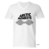 arctic monkeys clothing - Arctic Monkeys Mens T Shirts Printing V Neck Top Tee Man Clothes Short Sleeve Indie Rock Roll Band