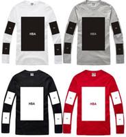 big m block - cotton big block design tee shirt hip hop t shirt stree fashion special tshirt Hood By Air HBA pyrex long sleeve t shirt