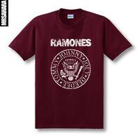 band tour shirts - Vintage ScreenPrinting Ramones Retro Logo American Punk Rock Band Music Tour Biker T shirt RAM NEW HEY HO