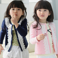 baby clothes decorations - children s clothing girls child autumn lace decoration baby cardigan child outerwear top