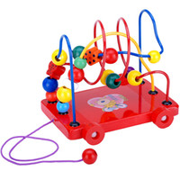 baby trailers - NEW Baby Wooden Trailer Around Beads Educational Developmental kids Toys Gift