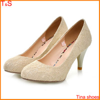 women fashion shoes large size - fashion sexy Lace women s high heel pumps wedding spring shoes large size Us9
