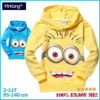 ae boy - AE Cheapest children hoodies moleton infantil blusa minion despicable me ropa de kids sudaderas girls amp boys hoodies sweatshirt